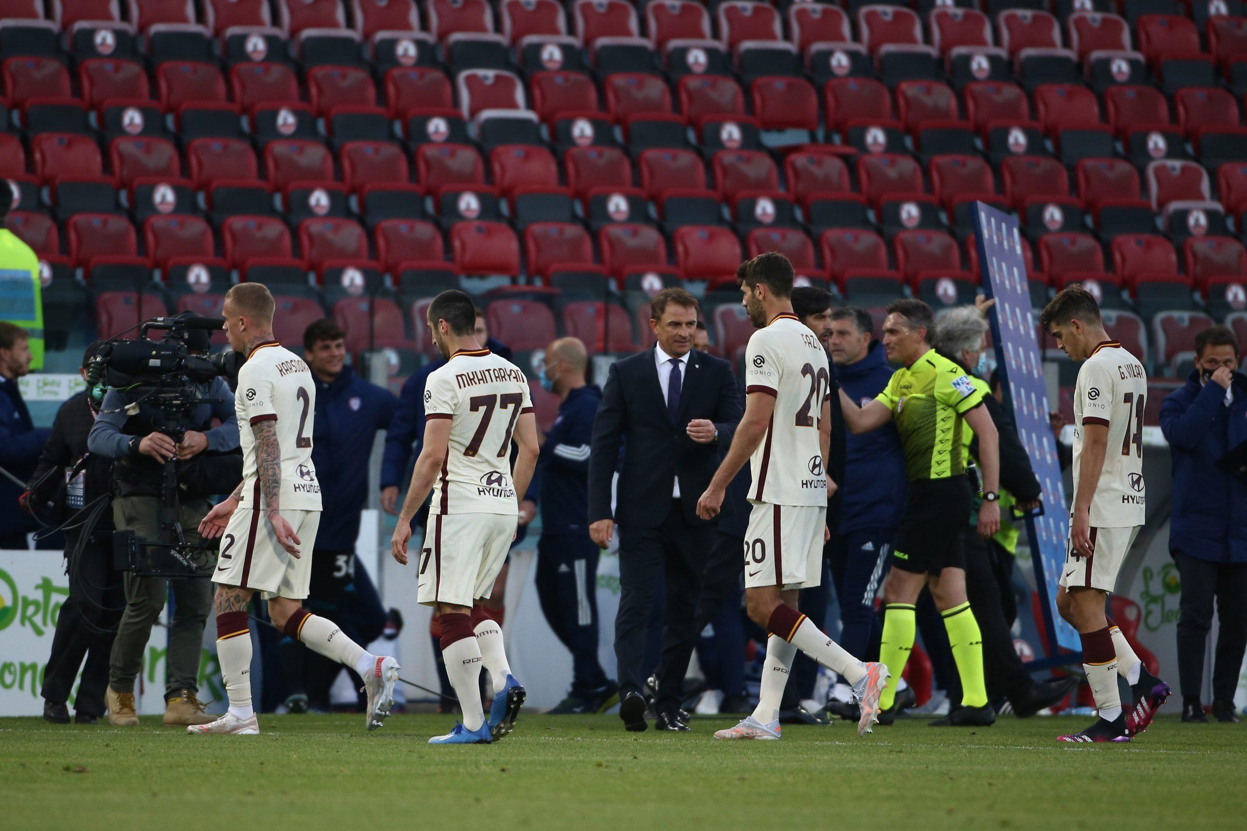 La Roma esce sconfitta a Cagliari: 3-2 per i sardi